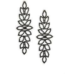 Saks Fifth Avenue Crystal Chandelier Earrings (190 DKK) ❤ liked on Polyvore featuring jewelry, earrings, saks fifth avenue jewelry, post earrings, chandelier earrings, earring jewelry and post back earrings