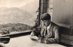 Berchtesga​den, Germany, Adolf Hitler at his home.