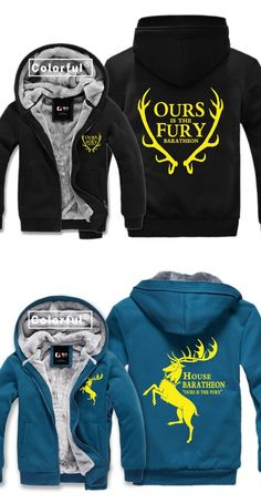High-Q Unisex Game of Thrones House Baratheon of Storm's End hoodies jacket Game of Thrones Cardigan Hoodies jacket coat