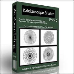 Arbenting10 More Kaleidoscope Photoshop Brushes - Arbenting