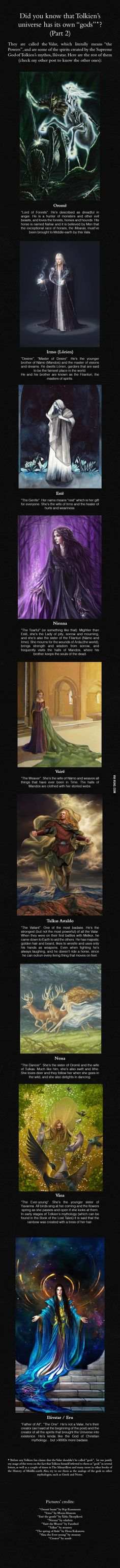 The Valar, part 2 - J.R.R. Tolkien's Mythology - and there's a part 2, with my favorite. :) Yet again, yay art!