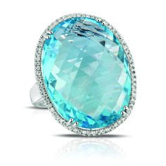 Fink's Jewelers - Marco Moore 14K Oval Cut Blue Topaz and Diamond Ring, $1,595.00 (http://finksjewelers.com/marco-moore-14k-oval-cut-blue-topaz-and-diamond-ring/)