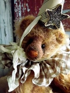 Handmade Mohair Teddy Bear by by AVintageObsession on Etsy