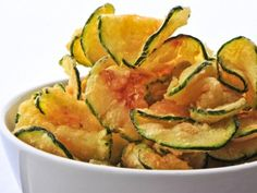 GG's Keto Salt and Vinegar Zucchini Chips - Thinking of a salty crunchy snack? Zucchini Chips have the crunch you are looking for with the tang of vinegar and the saltiness you crave. These are healthy and addicting. Bet you can't eat just one! Fried Zucchini Chips, Zucchini Chips Recipe, Zucchini Crisps, Bake Zucchini, Zuchinni Chips, Zucchini Bites, Keto Crisps, Low Carb Zucchini Recipes, Zucchini Sticks