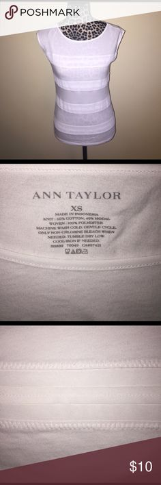 XS Ann Taylor White Sleeveless Top Like-new! Super sure design shown in third picture. Sleeveless perfect for spring! Ann Taylor Tops