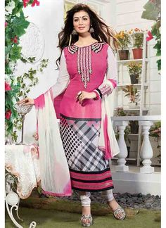 Decent Pink Coloured Straight Suit India's leading e-commerce marketplace