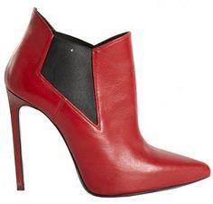 Saint Laurent Shoes Winter 2013 2014 : Saint Laurent Boots Red