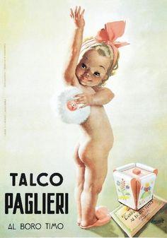 TARGA VINTAGE TALCO PAGLIERI PUBBLICITA , ADVERTISING, COSMETICI,POSTER PLATE