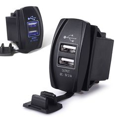 hot sale new Car 3.1A Dual USB Socket Charger Power Adapter Blue LED For Phone PDA