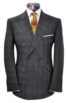 The Mollison Blue on Navy Overcheck - William Hunt Savile Row - 1 Sharp Dressed Man, Well Dressed Men, Mens Sweat Suits, Suit Combinations, Suit Shirts, Elegant Man, Savile Row, Bespoke Tailoring, Kurta Designs