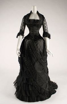 mourning dress, 1880s