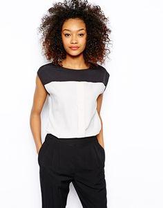 Vero Moda Colour Block Blouse Top