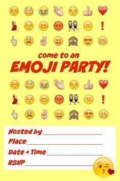 Free printable Emoji party invitation from Cool Mom Picks