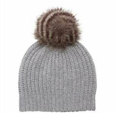 Ribbed Knit Hat with Pom-Pom - Grey by Indigo | Gloves Gifts | chapters.indigo.ca