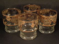 Cera glass co maps double fashioned glasses old world maps barware collection cera old world map footed rocks glasses gumiabroncs Image collections