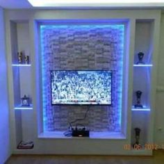 Tv Unit Design, Tv Wall Design, Drywall, Fireplace Tv Wall, Modern Tv Wall Units, House Ceiling Design, Glam House, Bubble Wall, Living Room Decor Inspiration