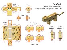 how to make minecraft card figures - Google Search