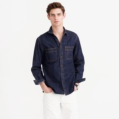 Selvedge Indigo Denim Shirt : Men's Shirts | J.Crew