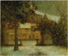 The House in Winter ~ Henri Eugène Le Sidaner ~ (French: 1862-1939)