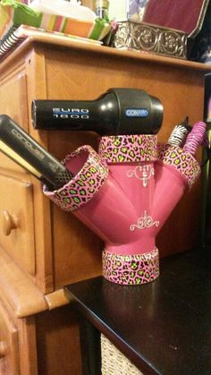 Hair Dryer - This is my DIY hair straightener holder! Very easy and it turned out fantastic! More