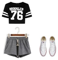 """Bez naslova #1"" by amanda-rules ❤ liked on Polyvore featuring Boohoo and Converse"