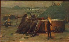 """""""The Building of the Pyramids,"""" Henry Ossawa Tanner, ca. 1885, oil on canvas, private collection."""