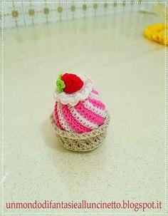 Cupcake all'uncinetto amigurumi