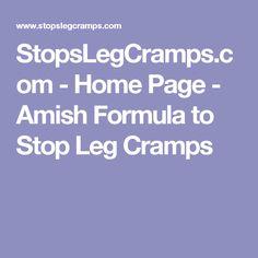 Amish formula for leg cramps