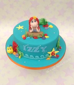 Little Mermaid themed cake from www.thecraftykitchen.co.uk