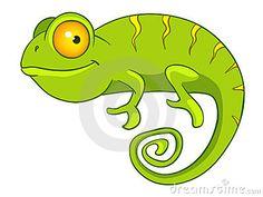 Camaleón del personaje de dibujos animados