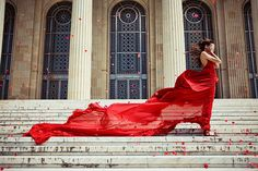 Rose and the Wind by Sabina Dimitriu long, red dress blowing in the wind // amandapleeasee:(via mendmyheart)