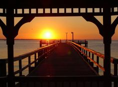 What a beautiful sunrise!  Makes you want to get out on the water!    Colonial Beach on the Northern Neck, VA.