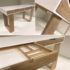 Bureau en solide surface et Chêne Woodline concept