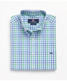 Vineyard Vines Porthole Check Slim Fit Tucker Shirt!  www.keenelandgiftshop.com