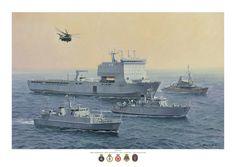 RFA Lyme Bay , Mine clearance ships in the Gulf