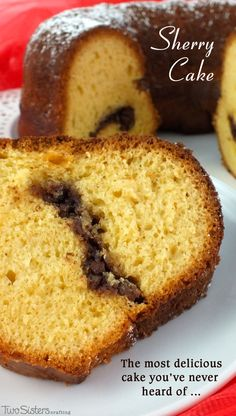 Sherry Cake is one of our favorite Christmas Desserts - a deliciously moist bundt cake with a unique hint of sherry wine that is always a crowd favorite at a party.  This is definitely the best Christmas Cake that you've never heard of!  For more great Christmas Treats follow us at http://www.pinterest.com/2SistersCraft/