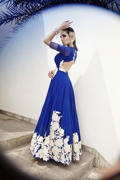 Blue is the New Bridal Color! #FashionTips #IndianBride #2014