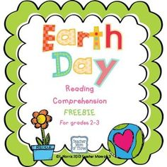 Earth Day Reading and Writing Freebie for grades 2-3.