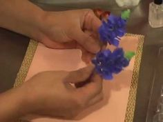 Making a Gumpaste Blue Bonnet by Petal Crafts - YouTube
