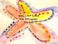 Joseys Art School Episode Starfish Art Lesson for Kids and Teens Self Esteem Art project Art Lessons For Kids, Art For Kids, Starfish Art, Art Projects, Sewing Projects, Joy Art, Teaching Art, Self Esteem, Art School