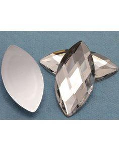2nds 18X12mm Teardrop Pear CLEAR PALE YELLOW Flat Back Sew On Acrylic Gems Bead