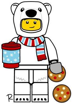 Weximan - Welcome Lego Custom Minifigures, Polaroid, Lego Truck, Character Cakes, Lego City, Character Illustration, Legos, Polar Bear, More Fun