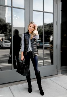 25cdb69cc43 54 Best Quilted Vest Style images in 2017 | Cold winter outfits ...