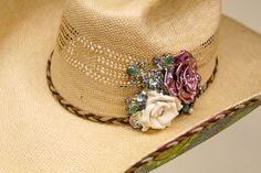 The perfect statement to make in any arena! Order your vintage embellished hat today from The Rowdy Rose #therowdyrose #cowboyhat #vintage #embelished
