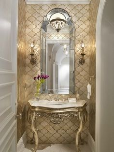 Formal Traditional Bathroom by Dawn Causa on HomePortfolio