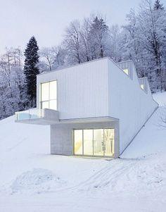 Atelier Albert Oehlen by Abalos+Sentkiewicz Arquitectos + Enguita  Lasso de la Vega, artist's atelier in Bühler,  Switzerland