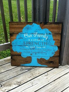Family Sign - Family Tree Sign - Our Family Is A Circle Of Strength - Gift for…