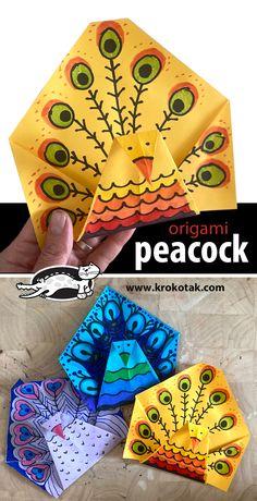 Kindergarten Art Projects, Classroom Art Projects, Art Classroom, Paper Folding Crafts, Paper Crafts Origami, Scrapbook Paper Crafts, 1st Grade Crafts, 4th Grade Art, Animal Art Projects