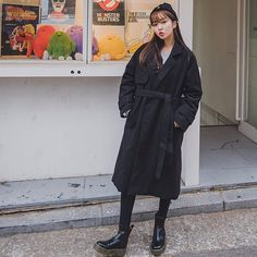 #envylook Tie-Waist Loose Fit Coat #koreanfashion #koreanstyle #kfashion #kstyle #stylish #fashionista #fashioninspo #fashioninspiration #inspirations #ootd #streetfashion #streetstyle #fashion #trend #style