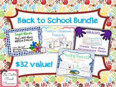$25 - This back to school bundle will help you get off to a great start this school year! It combines 4 of my favorite year round products: reading madness (a supplement to reading workshop), positive behavior reward cards, Fry's first 600 sight words mega bundle, and create your own performance tasks.  These four products sell separately in my store for a $32 value. Buying this bundle saves you 22% - The Center Based Classroom